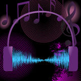 Abstract music background design elements Stock Photography