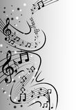Abstract music background. Design in grey-scale Stock Image