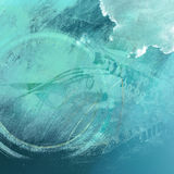 Abstract music background. Double exposure Stock Photography