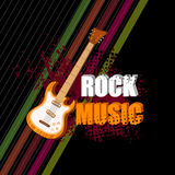 Abstract music background. Easy to edit illustration of abstract music background with guitar Stock Images