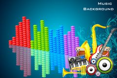 Abstract Music Background Stock Image