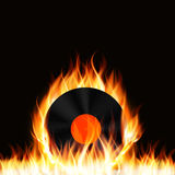 Abstract Music Background with Fire Vector Stock Image