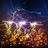 Abstract music background illustration Royalty Free Stock Photos