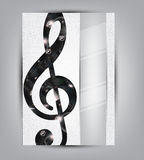 Abstract music background illustration for your design Stock Photos