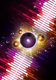 Abstract Music Background. Abstract multicolor music sound speaker background for party events Stock Image