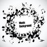 Abstract music background with notes,  Royalty Free Stock Photography