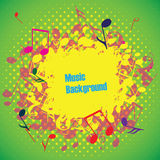 Abstract music background with notes,  Stock Images