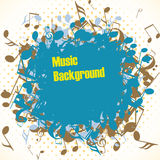 Abstract music background with notes,  Stock Photography