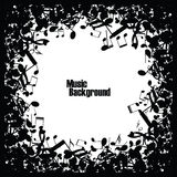 Abstract music background with notes,  Royalty Free Stock Photos