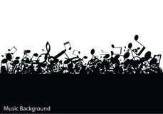 Abstract music background with notes,  Royalty Free Stock Images