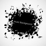 Abstract music background with notes,  Royalty Free Stock Photo