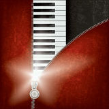 Abstract music background with piano Stock Image