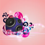 Abstract music background with round speakers Royalty Free Stock Photo