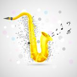 Abstract Music Background with Saxophone Stock Image
