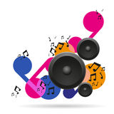 Abstract music background with speakers Royalty Free Stock Photos