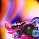 Abstract music background with speakers Stock Photo