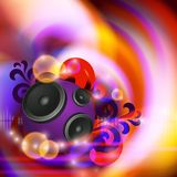 Abstract music background with speakers Stock Photography