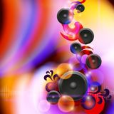 Abstract music background with speakers Stock Photos