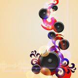 Abstract music background with speakers Stock Images