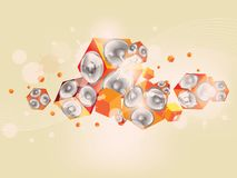Abstract music background with subwoofer Stock Image
