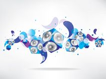 Abstract music background with subwoofer Royalty Free Stock Photo