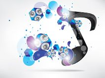 Abstract music background with subwoofer Stock Photos
