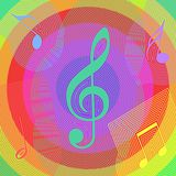 Abstract Music Background. Vector Royalty Free Stock Image