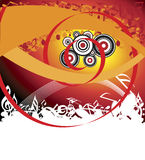 Abstract music background. Vector illustration Royalty Free Stock Photo