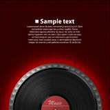 Abstract music background. Vinyl disk Royalty Free Stock Photo
