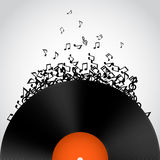 Abstract music background. Vinyl disk Royalty Free Stock Images