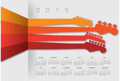 An abstract 2015 music calendar. For Print or Web Stock Illustration