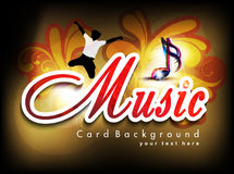 Abstract music card background Royalty Free Stock Photography