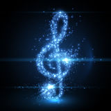 Abstract music clef background. Vector illustration. Royalty Free Stock Image