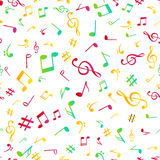 Abstract music colorful notes seamless pattern background vector illustration for your design Stock Image