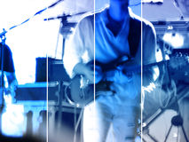 Abstract music concert banner. Blue abstract music concert banner Royalty Free Stock Photos