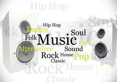 Abstract music design Stock Images