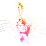 Abstract Music Design. Illustration of an Abstract Music Design Royalty Free Stock Photos