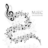 Abstract Music Design vector illustration