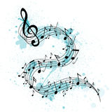 Abstract Music Design stock illustration