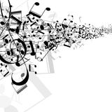 Abstract music design for use as a background Royalty Free Stock Photo