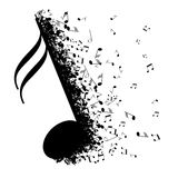 Abstract music design for use as a background Royalty Free Stock Photos