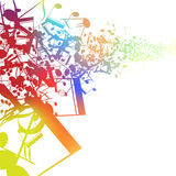 Abstract music design for use as a background Stock Photo