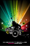 Abstract Music Disco Background Stock Images