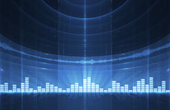 Abstract music equalizer background. Perfect for flyers, brochures, posters stock illustration