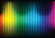 Abstract Music Equalizer Background. Vector. Stock Photography