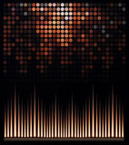 Abstract music equalizer. Editable vector background Royalty Free Stock Photography