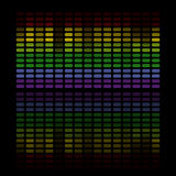 Abstract music equalizer. Illustration of colorful musical bar showing volume on black background Royalty Free Stock Photos