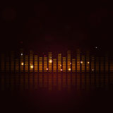 Abstract Music Equalizer. And lights for active party events Stock Photography
