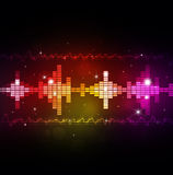 Abstract Music Equalizer. Abstract music multicolor background with equalizer and music waves vector illustration
