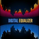 Abstract music equalizer. Stock Photos